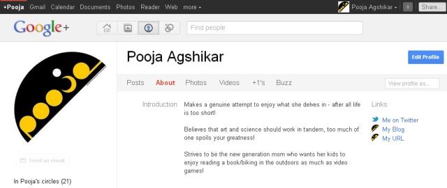google + profile