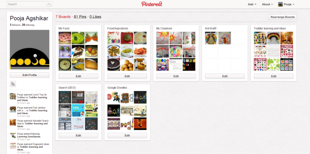 "Pooja's ""In-Progress"" Pinterest"